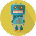 android, launch, mascot, mechanical, metal, robot, robot expression, robotic, space, technology icon