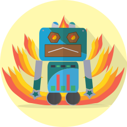 android, angry, mascot, mechanical, metal, robot, robot expression, robotic, space, technology icon