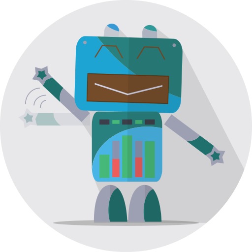 Android, fun robot, mascot, mechanical, metal, robot, robot expression icon - Free download