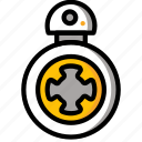 bb8, droid, robot, robots, star wars icon