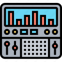 equalizer, mixing, sound, studio, audio