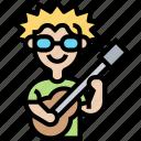 guitar, guitarist, acoustic, musician, performer
