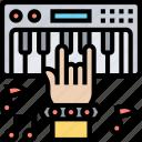 keyboard, music, synthesizer, melody, sound