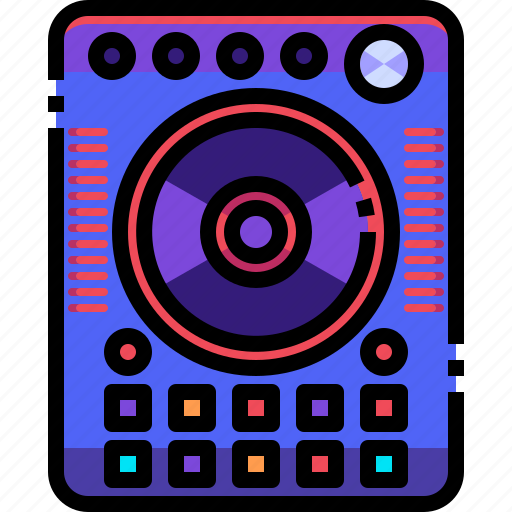 Device, electronics, music, player, record, turntable icon - Download on Iconfinder
