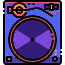 device, electronics, music, player, record, turntable icon