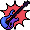 bass, electric, guitar, instrument, musical, string icon