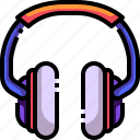 audio, communications, earbuds, electronics, headphone, headphones, sound icon