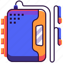 entertainment, player, music, electronics, earphones, electronic, walkman icon