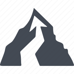arrow, cursor, mountain, rock climbing icon