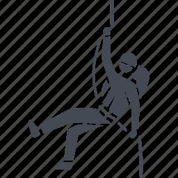 climb, climber, climbing, rock climbing, sport icon