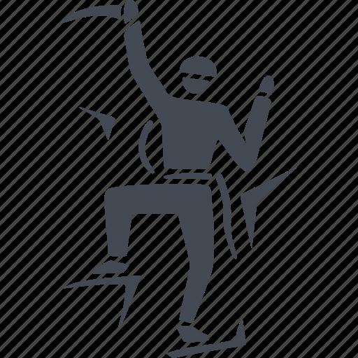 climb, climber, climbing, rock climbing icon