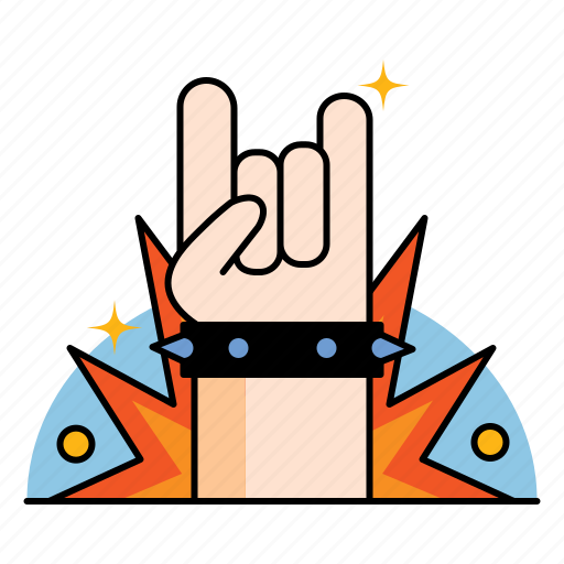 Gesture, hand, heavy, horn, metal, music, rock icon - Download on Iconfinder