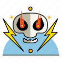 band, fire, guitar, music, poster, rock, roll, skull icon
