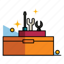 box, fix, hardware, maintenance, repair, toolbox, toolkit icon