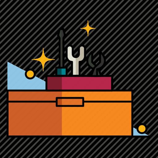 box, fix, hardware, maintenance, repair, toolbox, toolkit icon