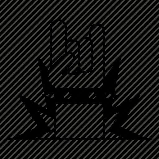 Gesture, hand, horn, music, rock, rocker icon - Download on Iconfinder