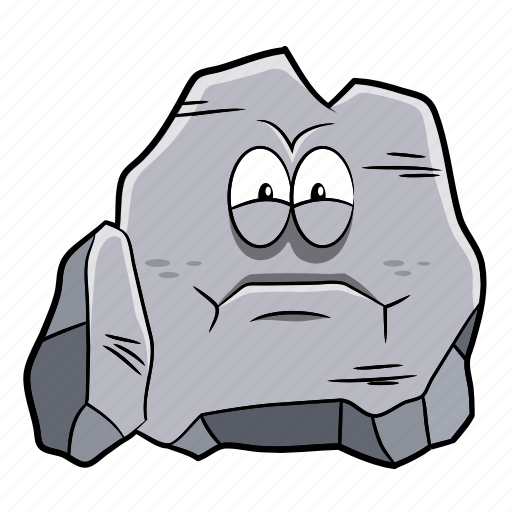 cartoon, emoji, paper, rock, scissors icon