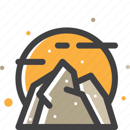 mountain, rock, stone icon