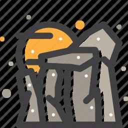 mountain, rock, stone, stonehege icon