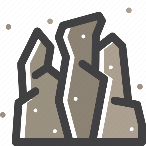 mountain, rock, stone icon