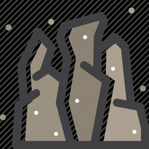 fountain, hiking, mountain, nature, outdoor, rock, stone icon