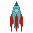 future, rocket, science, ship, space, spaceship, technology icon
