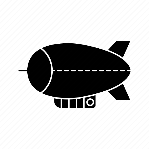 airship, blimpsolid, transport, vehicle, zeppelin icon