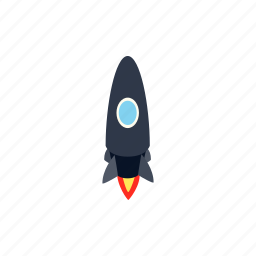 blog, isometric, launch, rocket, ship, spaceship, technology icon