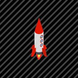 blog, grey, isometric, launch, rocket, ship, spaceship icon