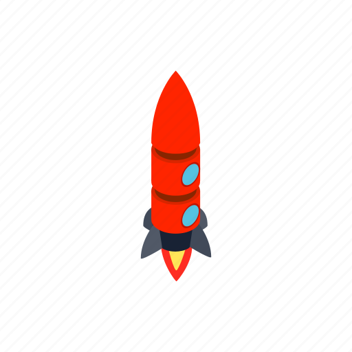 Isometric, rocket, two, blog, porthole, ship, spaceship icon - Download