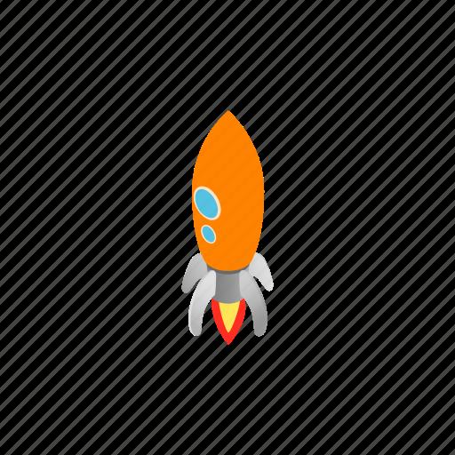 blog, isometric, orange, porthole, rocket, ship, two icon