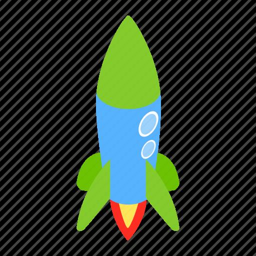 blog, blue, isometric, launch, rocket, ship, spaceship icon