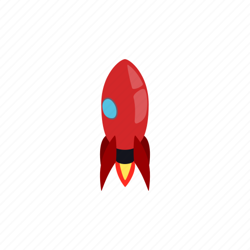 blog, isometric, launch, rocket, ship, spaceship, technology icon