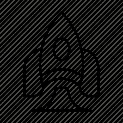 pocket, rocket, socket, space, spaceship, startup icon