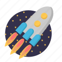 missile, rocket, spacecraft, startup