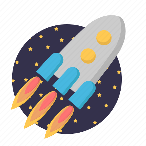 missile, rocket, spacecraft, startup icon