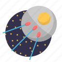 rocket, satellite, space, start, ufo icon