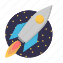 business, rocket, seo, spacecraft icon