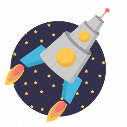 business, marketing, missile, rocket icon