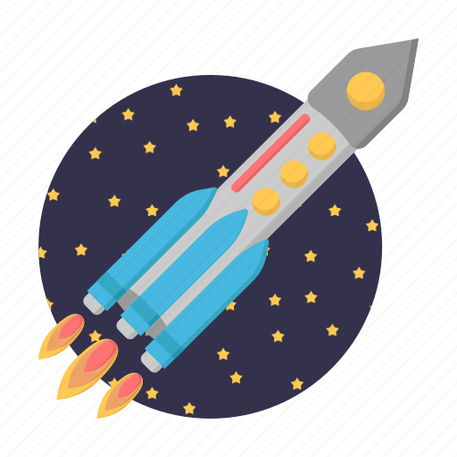 astronomy, fly, rocket, space, spacecraft, startup icon
