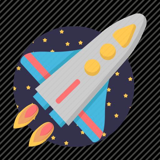 galaxy, rocket, spacecraft, start icon