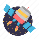 fly, rocket, science, spaceship, startup icon