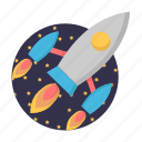 astronomy, marketing, rocket, science, seo, spaceship icon