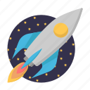 business, marketing, rocket, spacecraft, startup icon