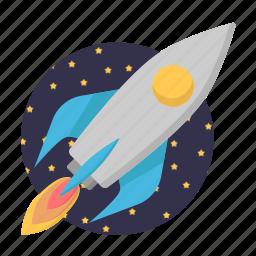 business, marketing, rocket, spacecraft, startup icon