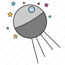 astronomy, cosmos, racket, satellite, space, spaceship icon
