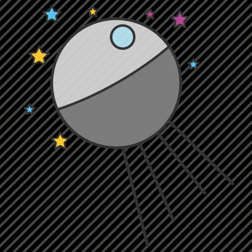 astronomy, cosmos, racket, satellite, space, spaceship icon