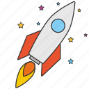 astronomy, cosmonaut, rocket, science, space, spaceship icon