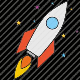 astronomy, cosmonaut, rocket, science, space, spaceship icon
