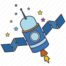 cosmonaut, rocket, shuttle, space, space station, spaceship, startup icon